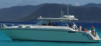 55 ft Cooper wedding party in the British Virgin Islands