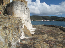 Historical Fort on Hassel Island, US Virgin Islands